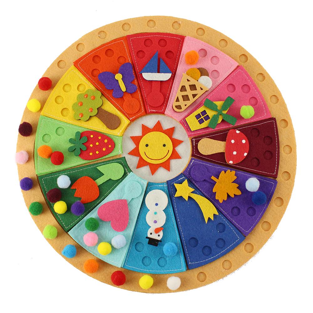 Juegos montessori calendario mandala y puzzle la - Material waldorf ...